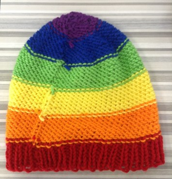 rainbow hat inside