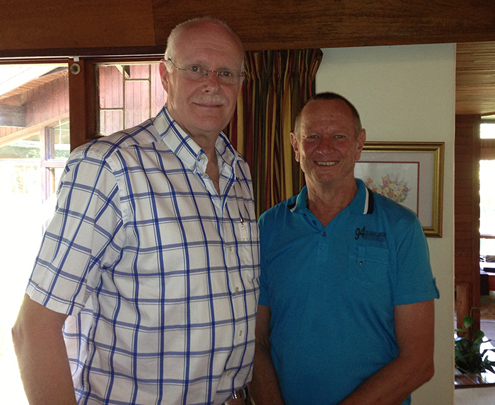 Allan Luus (Mercy Air CE0) and Bo Nilsson (board member and businessman)