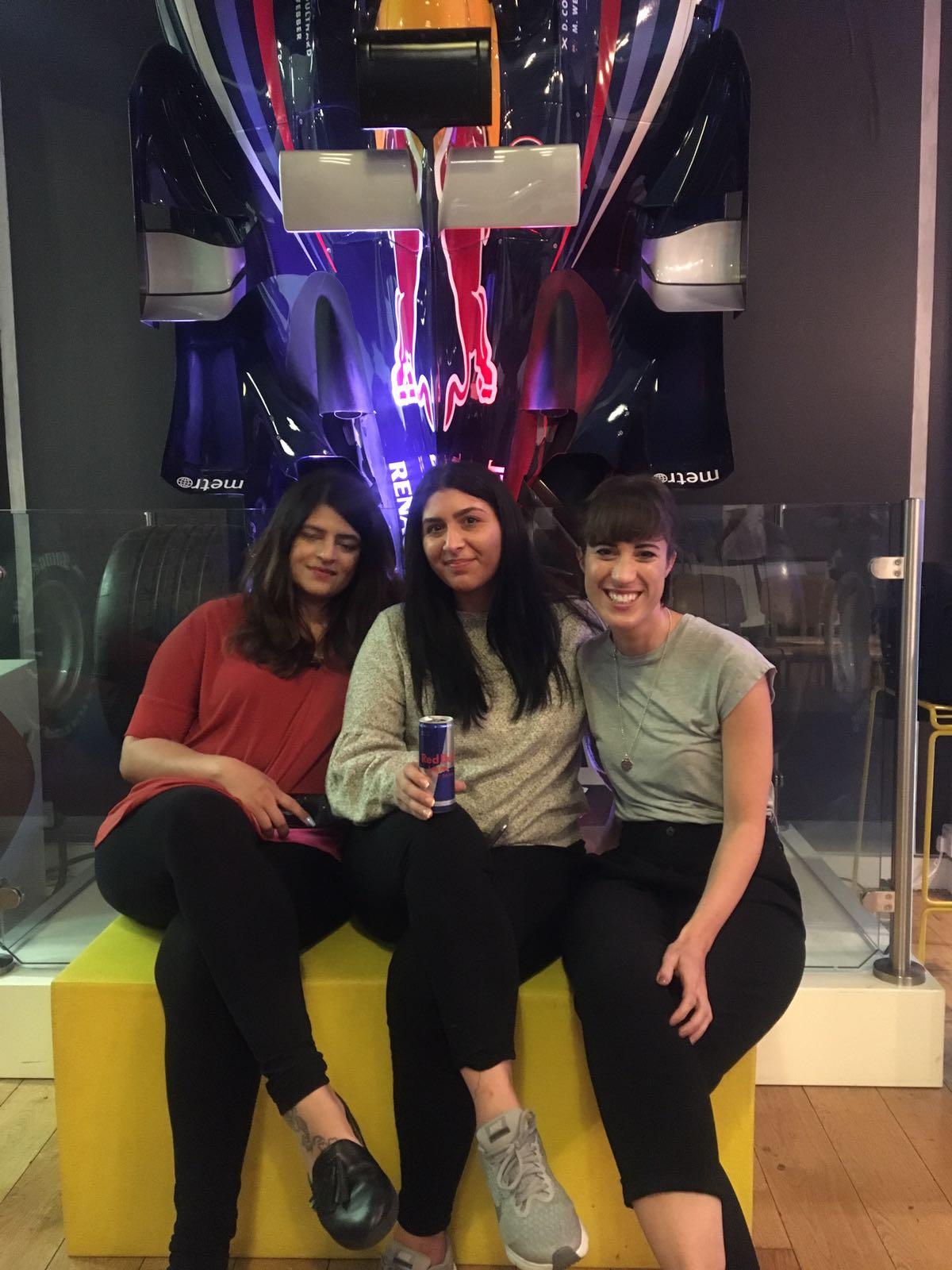 Neha, I & Francesca at the Red Bull Studios