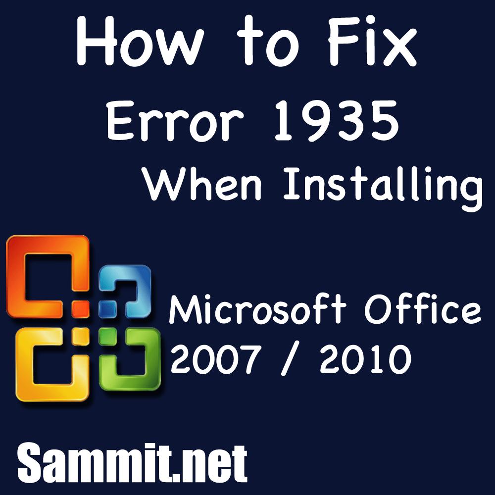 office 2013 setup failed error 1935