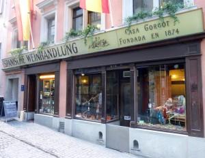 """Die """"Bodega Espanola"""" in der Münstergasse 15"""