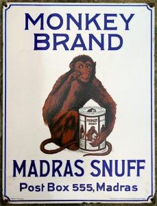 MONKEY BRAND MADRAS SNUFF - Deutschland / Indien