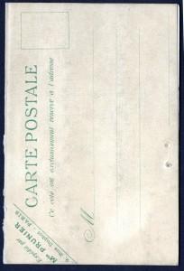 Das Menü konnte als Postkarte an die vorneheme Kleintel verschickt werden