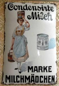 CONDENSIRTE MILCH MARKE MILCHMÄDCHEN, um 1905