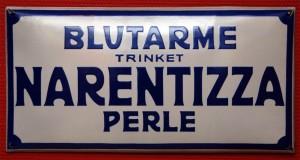 Narentizza Perle: Emailleplakat um 1900
