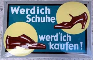 Werdich Schuhe werd' ich kaufen, 1930er Jahre