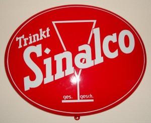 Trinkt SINALCO - Ovales Emaileschild aus den 50ern