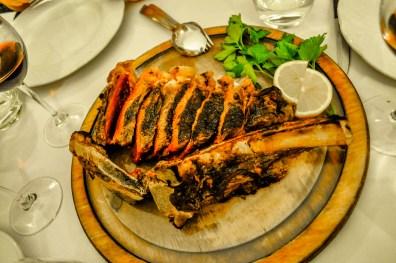 Florentine Steak, which was mostly red.