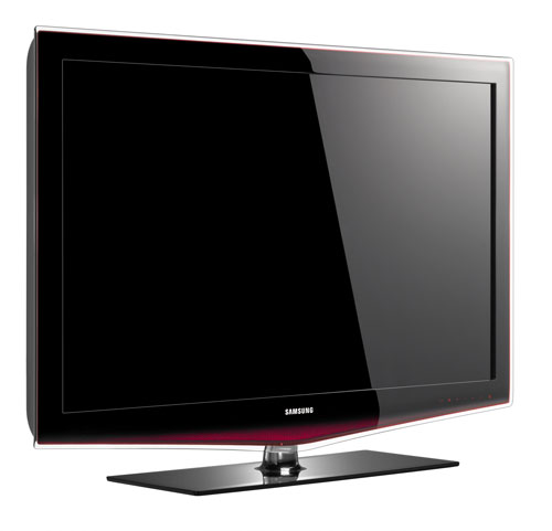 tv stand for small living room interior design samsung shows off 65-inch ccfl-backlit lcd at cedia ...