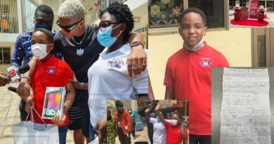 """Video: Oswald's """"Our day"""" letter to mum turns grand ceremony as he receives many gifts, amidst performance from Kidi and DopeNation"""