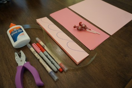 Supplies needed for your Handmade Valentines Heart & Lollipop Flowers