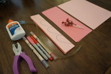 Supplies needed for your Handmade Valentines Heart & Lollipop Flowers