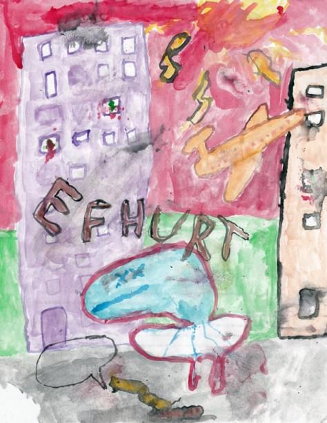 """""""Efhurt."""" 10/26/12. Watercolor. 8½x11""""."""
