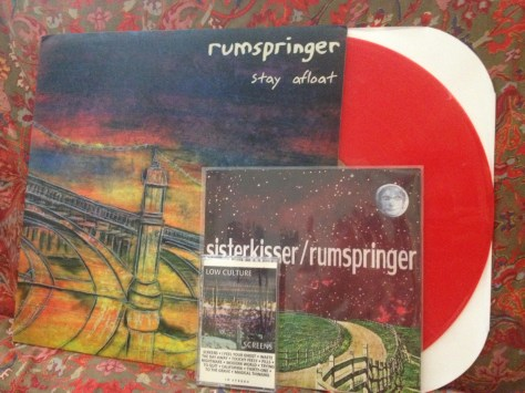 "Rumspringer's ""Staying Afloat"" LP and split 7-inch with Sister Kisser. Low Culture's ""Screens"" cassette."