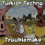 Turkish Techno / Troublemake split 7-inch. Traffic Street Records, 2009. Art by Gord Lafler.