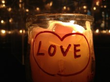 the message candle : all you need is love