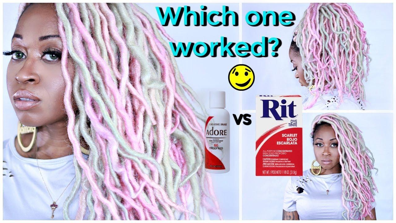 RIT DYE vs WATERCOLOR METHOD To Dye SYNTHETIC Faux Locs ...