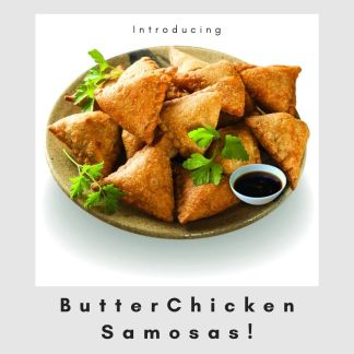 Butter C!hicken Samosas