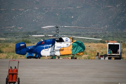 Russian Kamov- K-32 counter rotating rotor helicopter