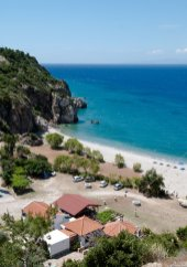 Tsabou beach and taverna