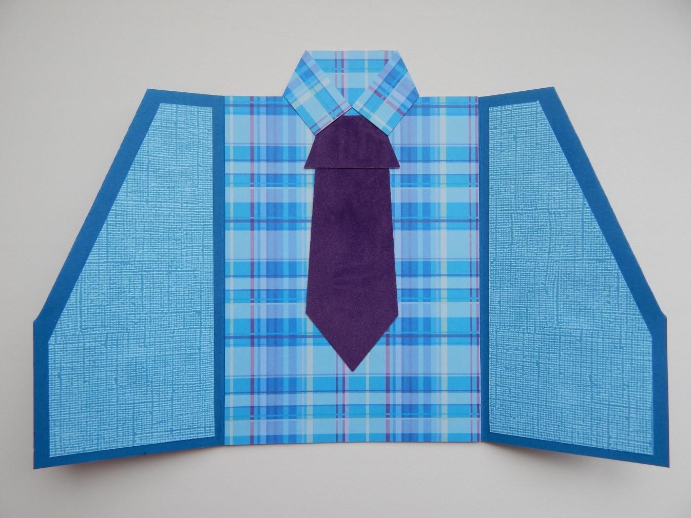 нас мастер класс открытка рубашка с галстуком из бумаги территория дает