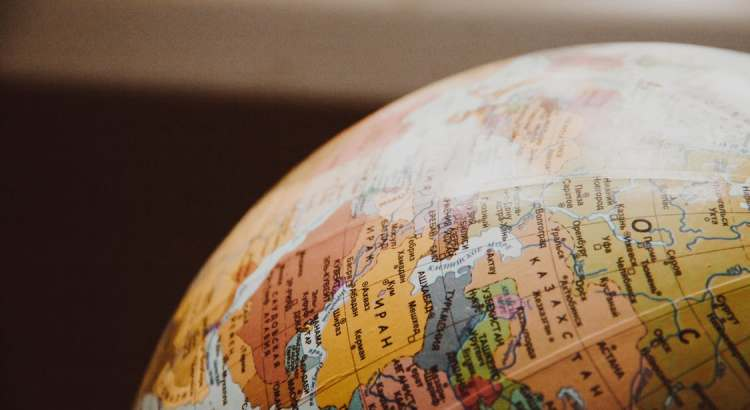 Earth globe picture - post on working remotely