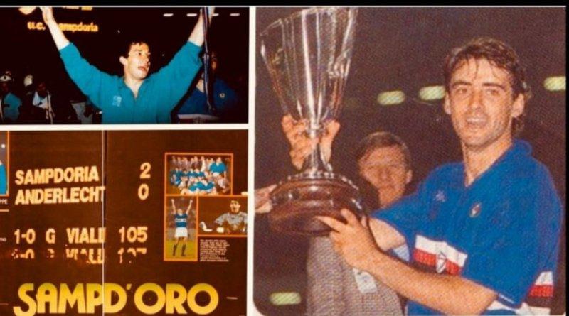 Mancini ricorda la vittoria in Coppa delle Coppe e Vialli si complimenta per l'assist.