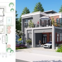 3 Bedroom Modern Villa design Size 11.5x21.1m