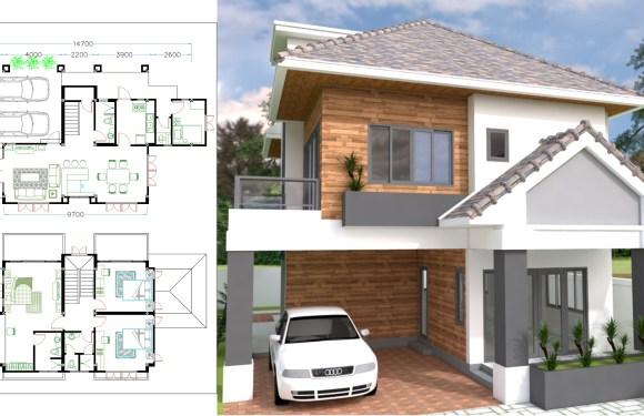 4 Bedrooms Home Plan 8.5×14.7m