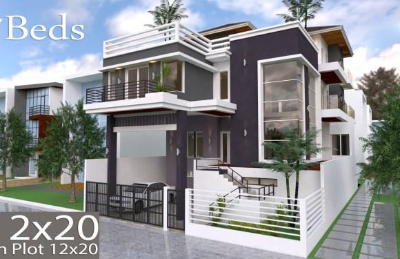7 Bedroom Villa Design 12mx20m