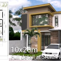 4 Bedroom Modern Home Plan Size 8x12m