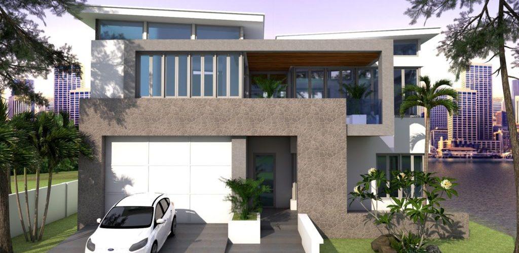 4 Bedrooms House Plan 13x15m