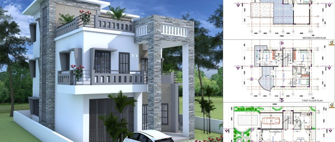 Modern House Plan 9×14.5m With 4 Bedrooms
