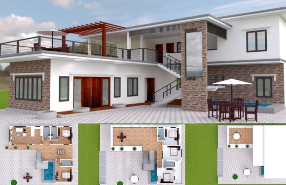 5 Bedroom Modern Villa Design 15x17m