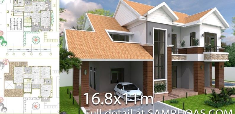 3 Bedroom Villa Design 16.8x11m
