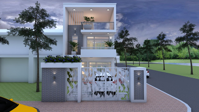 3 Bedroom House Plan 6m5x15m