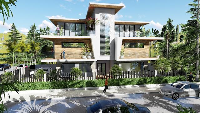 Sketchup Modeling Modern Villa Design Lumion Render