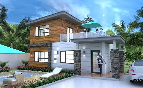 SKETCHUP Drawing from photo layout plan 9×6.3m