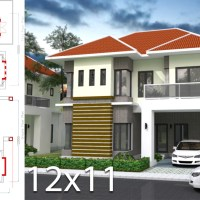 3 Bedrooms Home Plan 12x11m