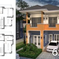 Home Plan 6x9.5m with 3 Bedrooms