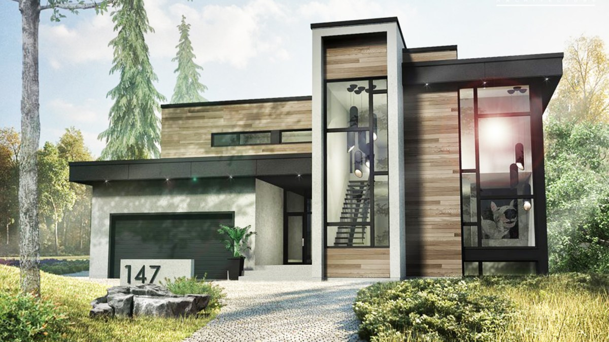 2 Story Modern House Style 53x47