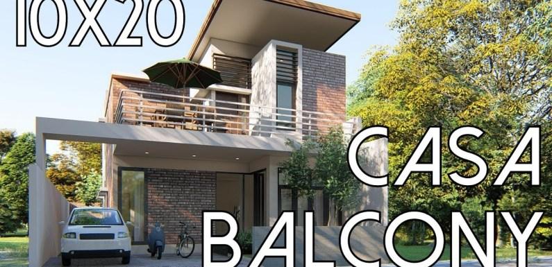 5 Bedrooms House Plan 10x20m