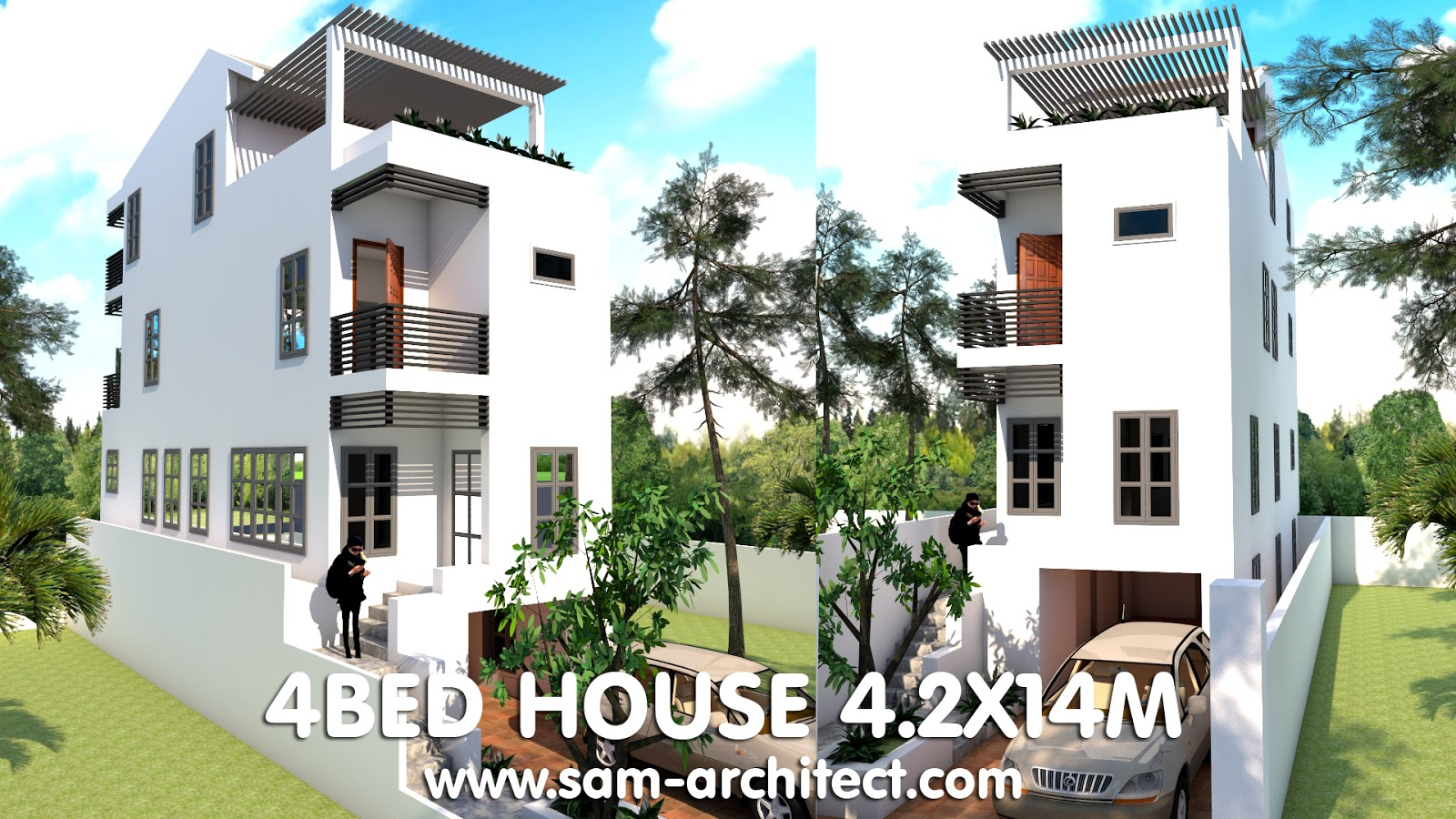 Elevated House Plans For Narrow Lots 5×20 Meter Photo Gallery