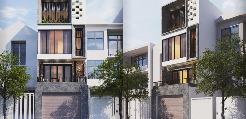 Narrow Building Plan 4.5×16.5 Meter with 3 Bedrooms