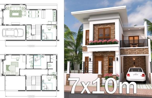 Interior Home Plan 7×10 Meter 4 Bedrooms