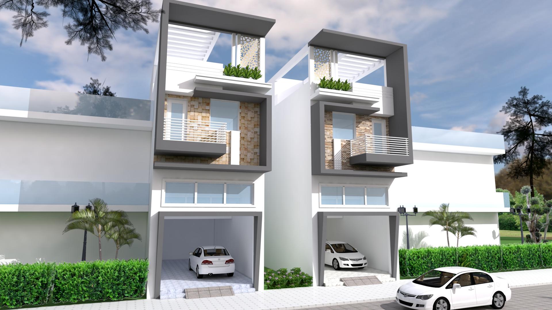 Narrow House Design front size 5m - SamPhoas Plan
