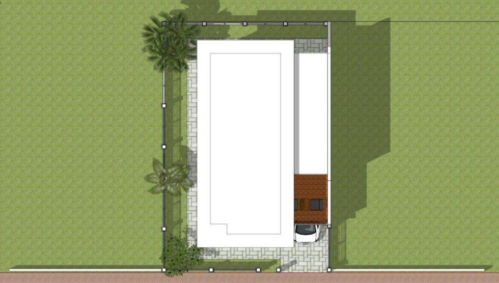 Home Plan 7x10 Meter 4 Bedrooms terrace roof
