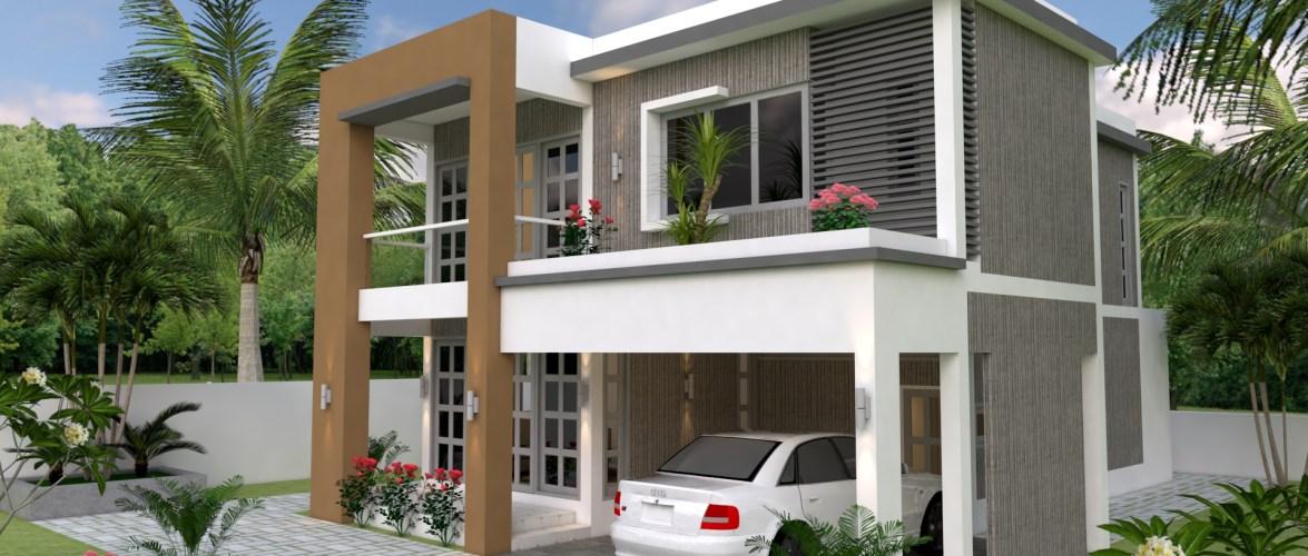 Sketchup Speed Build 3 Bedrooms Home Plan 30×38