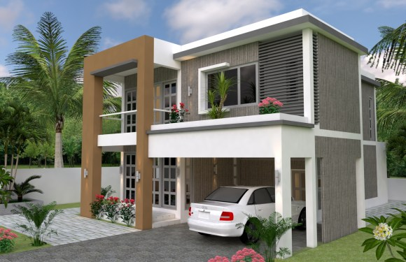 Sketchup Speed Build 3 Bedrooms Home Plan 30×38