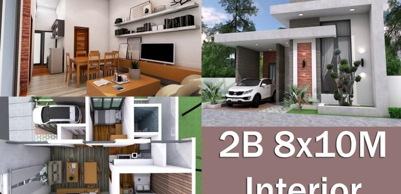 Interior Design One Story House 8x10M
